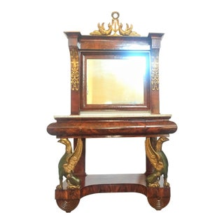 Spanish Empire Pier Console With Mirror For Sale
