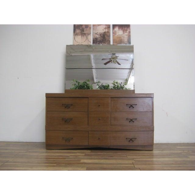 Mid Century Modern Dresser With Vanity Mirror - Image 3 of 9