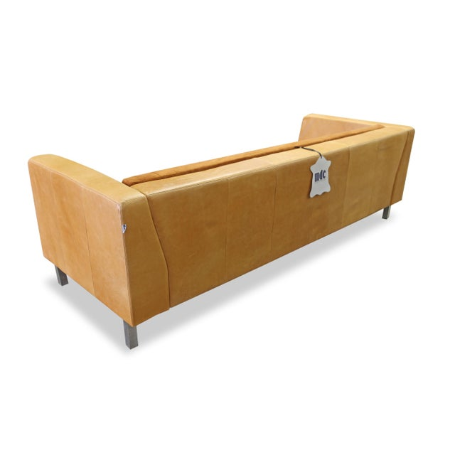 Modern Brazilian Brown Suede Sofa - Image 5 of 5