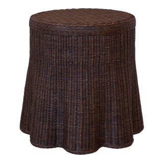 Scallop Side Table, Dark Walnut For Sale
