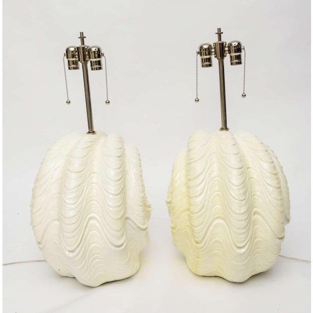 1960s Serge Roche Shell Lamps, Oversized from the 1960s For Sale - Image 5 of 9