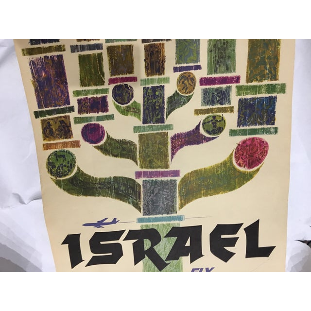 1960 David Klein 'TWA Israel' Poster For Sale In New York - Image 6 of 9