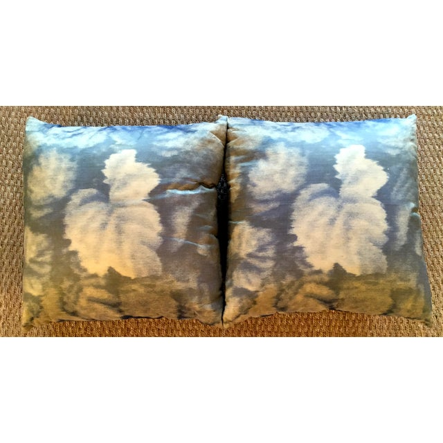 The distressed look of the pillows adds a unique touch to any room.