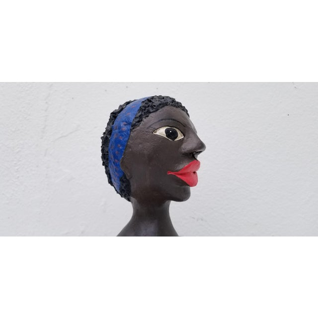 Pink 1980s Brazilian Female Sculpture For Sale - Image 8 of 13