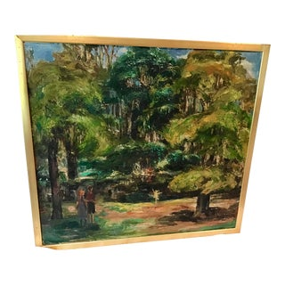 """Original Heinrich Pfeiffer Oil on Canvas """"A Morning of Play"""" For Sale"""