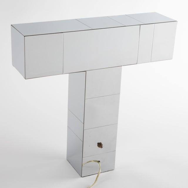"Paul Evans 1970's Paul Evans Chrome ""Cityscape"" Table or Desk Lamp For Sale - Image 4 of 13"