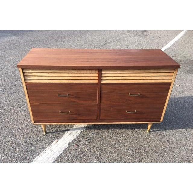 Mid-Century Walnut Dresser Credenza - Image 2 of 4