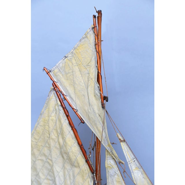 19th-Century English Pond Yacht Schooner For Sale - Image 4 of 8