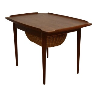 Teak End Table by Selig