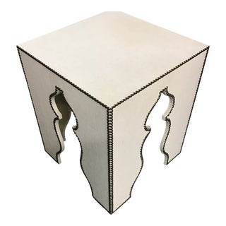 Weston Nailhead-Piped Side Table For Sale