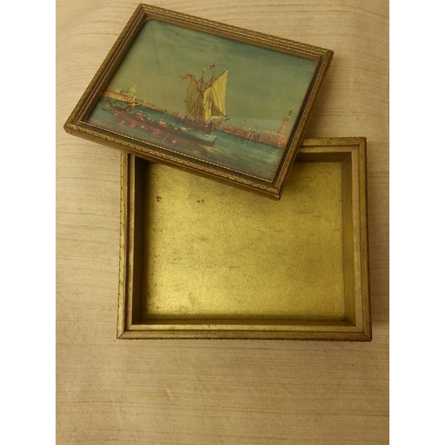 Italian Final Price! Wooden Trinket Box For Sale - Image 3 of 6