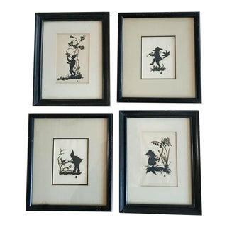 1920's Garden Gnomes Silhouettes - Set of 4