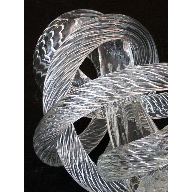 A Well-Crafted and Heavy Glass Rope Knot by Fusion Z Glassworks; With Acid Etched Signature For Sale In San Francisco - Image 6 of 8