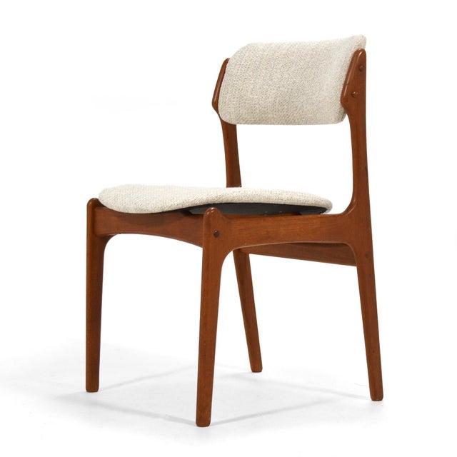 "Mid-Century Modern Erik Buch ""Model 49"" Teak Dining Chairs Set of Ten For Sale - Image 3 of 8"