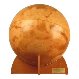 1973 Denoyer-Geppert Rare First Edition Mariner 9 Mars Globe