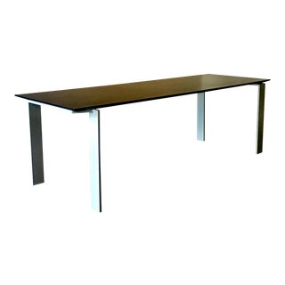 Industrial Kartell Four Large Black and Steel Table