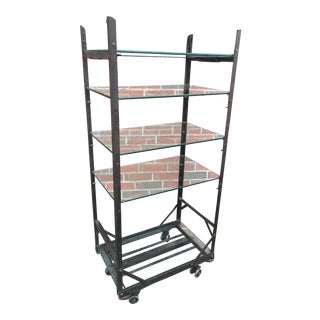 19th Century Industrial Steel Display Rack Shelving Unit For Sale