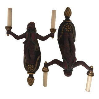 Palm Beach Style Moroccan Monkey Style Sconces - a Pair For Sale