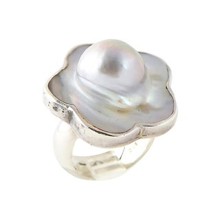 Brinker Blister Pearl Flower Ring For Sale
