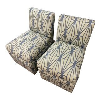 Pair of Midcentury Chairs Newly Upholstered For Sale