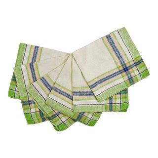 Vintage Cotton Plaid Napkins - Set of 6 For Sale