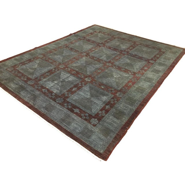 Textile Over Dyed Color Reform Loni Lt. Gray Wool Rug - 7'9 X 9'11 A3357 For Sale - Image 7 of 7