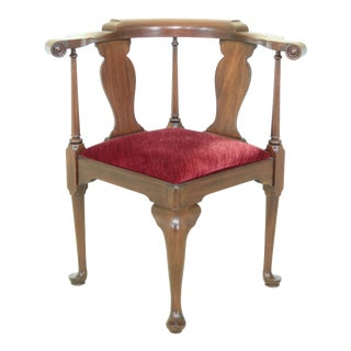 Henkel Harris Model 501 Mahogany Corner Chair For Sale