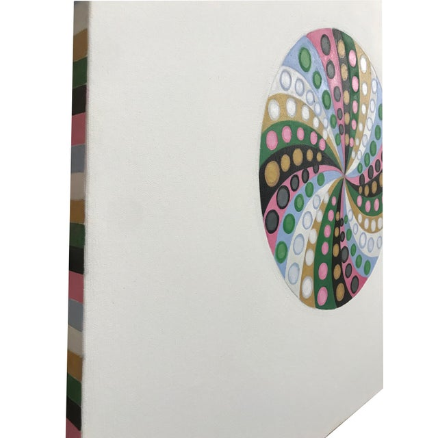 Final Markdown/Contemporary Spiral Painting by Natasha Mistry For Sale In Denver - Image 6 of 12