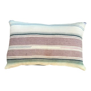 Contemporary Pastel Striped Pillow Cover For Sale