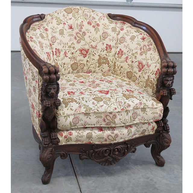 Carved Victorian Bergere For Sale - Image 11 of 11