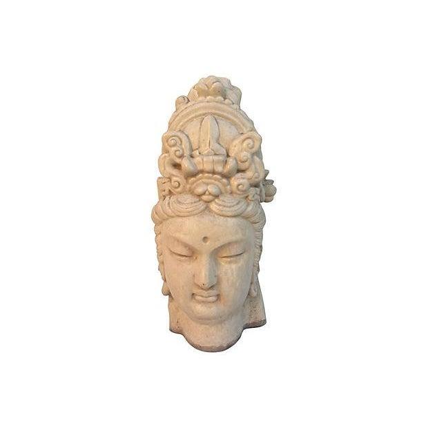 Chinese Ivory Terracotta Buddha Head - Image 7 of 7