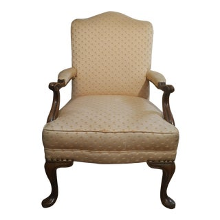 1940s Americana Baker Furniture Light Pink Wingback Armchair