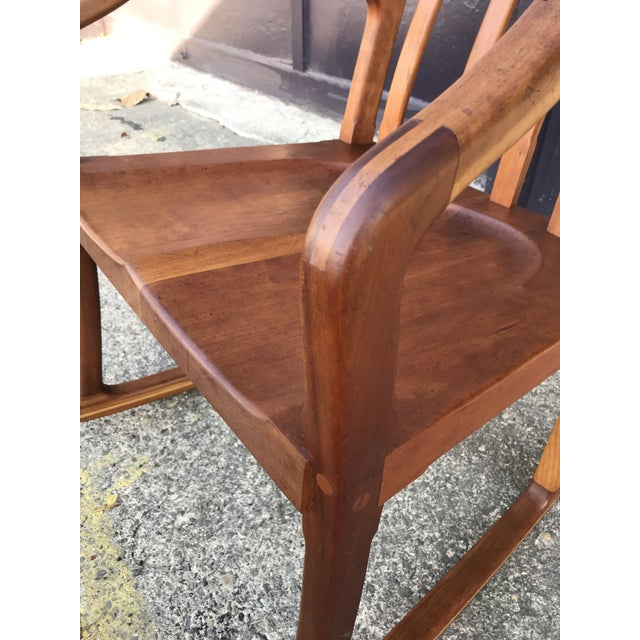 American Studio Walnut Rocking Chair Craft Movement For Sale - Image 10 of 13