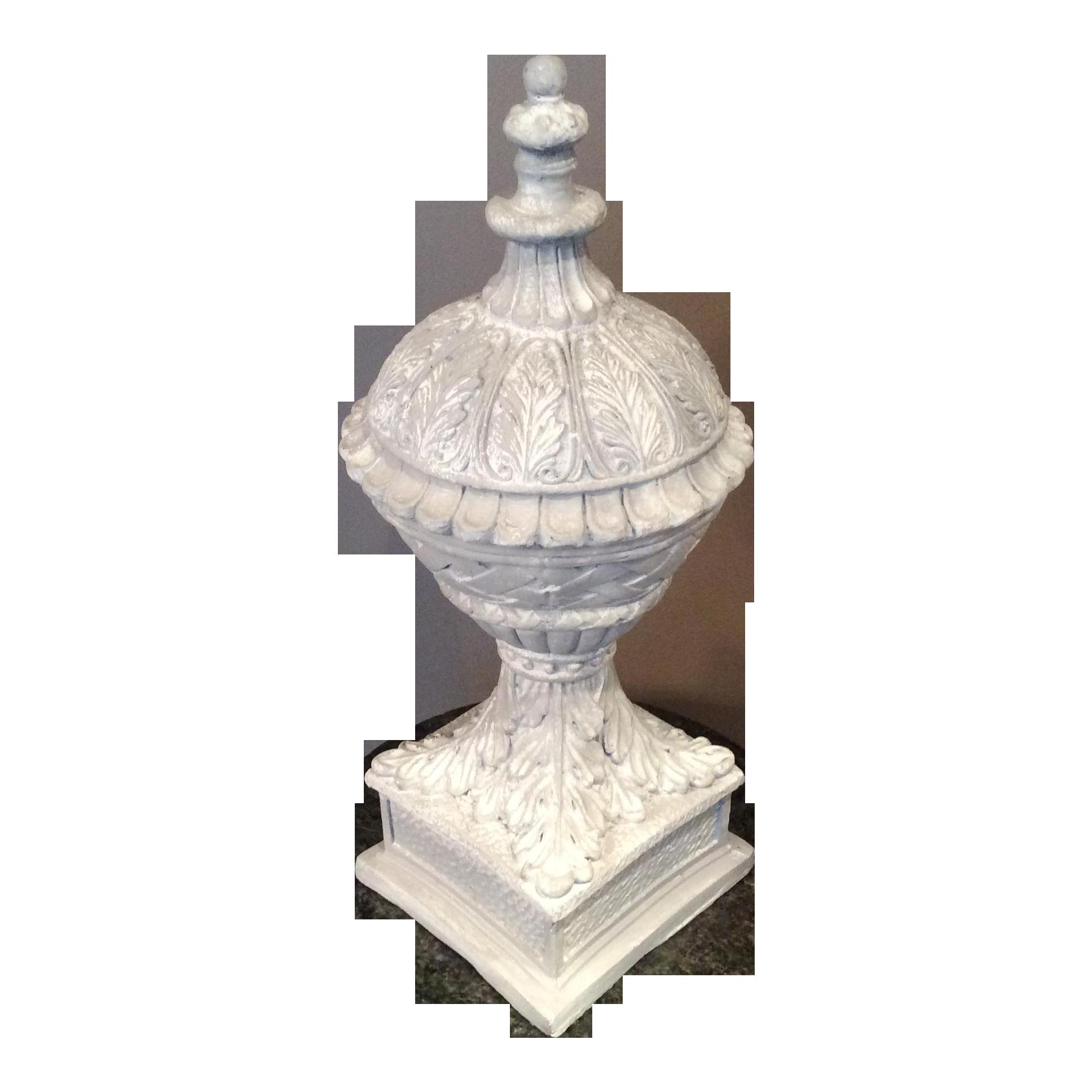 Neoclassical Plaster Garden Finial