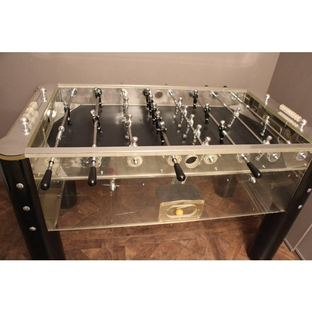 1970s Lucite and Mirror Polished Aluminum Foosball Table For Sale - Image 11 of 12