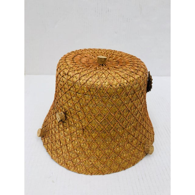 Christian Dior Vintage 1940's Italian Hat For Sale - Image 4 of 10