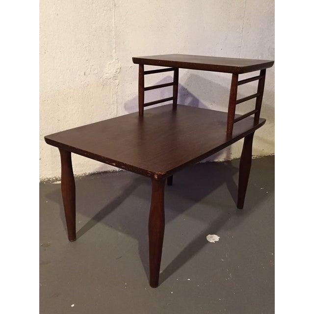 Danish Modern Vintage Viko Baumritter Step Table - Image 2 of 7