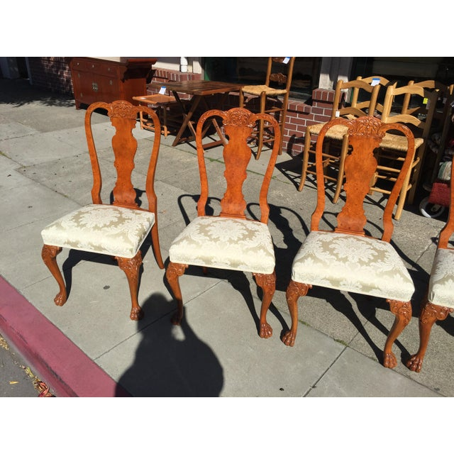 Burl Mahogany Chippendale Style Dining Chairs - Set of 10 - Image 9 of 12