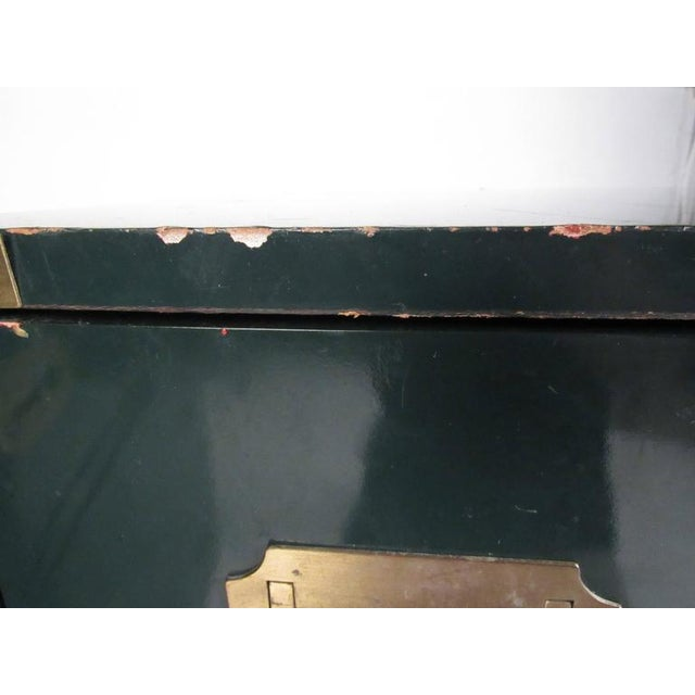 Metal Pair of Vintage Modern Campaign Style Dressers For Sale - Image 7 of 10