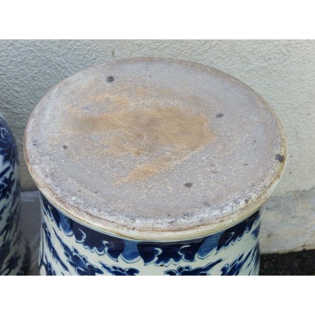 Hand-Painted Chinoiserie Urns- A Pair - Image 5 of 5