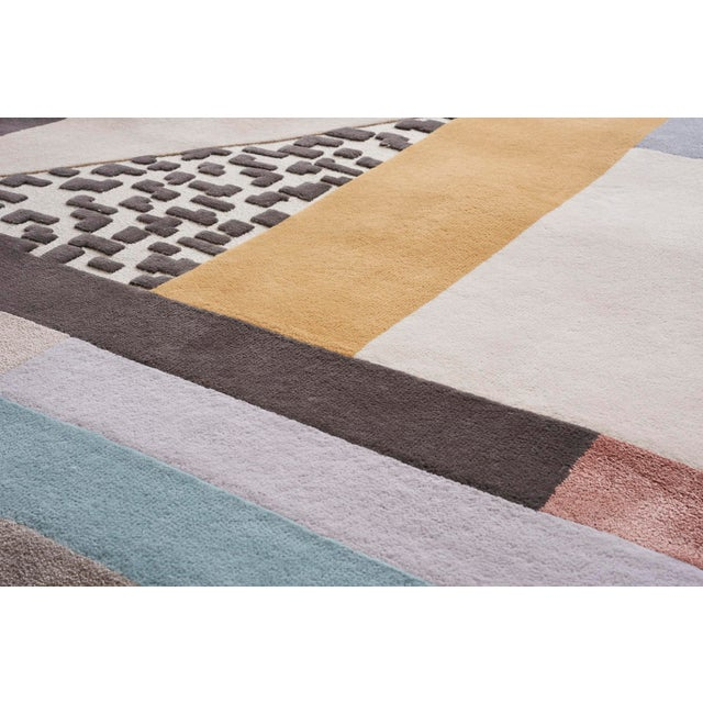 Early 21st Century Early 21st Century Schumacher Patterson Flynn Martin Ratio Hand-Tufted Wool Silk Rug - 9' X 12' For Sale - Image 5 of 9