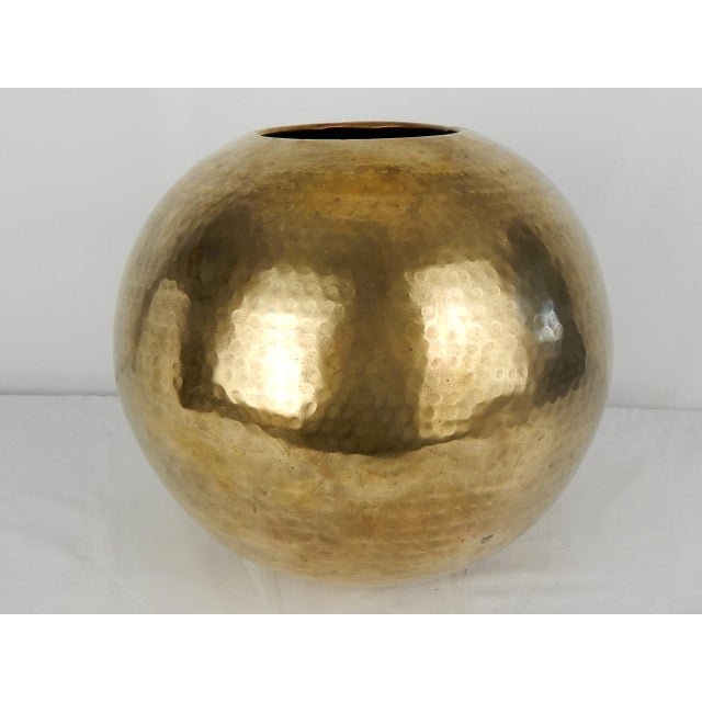 C. 1970s Hammered Brass Vase For Sale In Orlando - Image 6 of 9