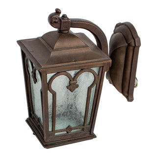 Late 20th Century Traditional Exterior Bronze Custom Sconces - a Pair For Sale
