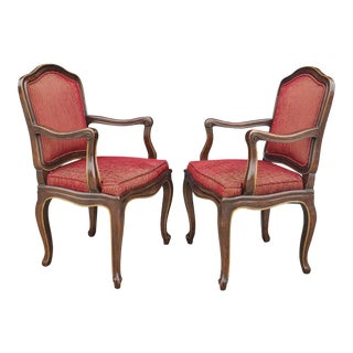 Vintage Henredon French Regency Armchairs- a Pair For Sale
