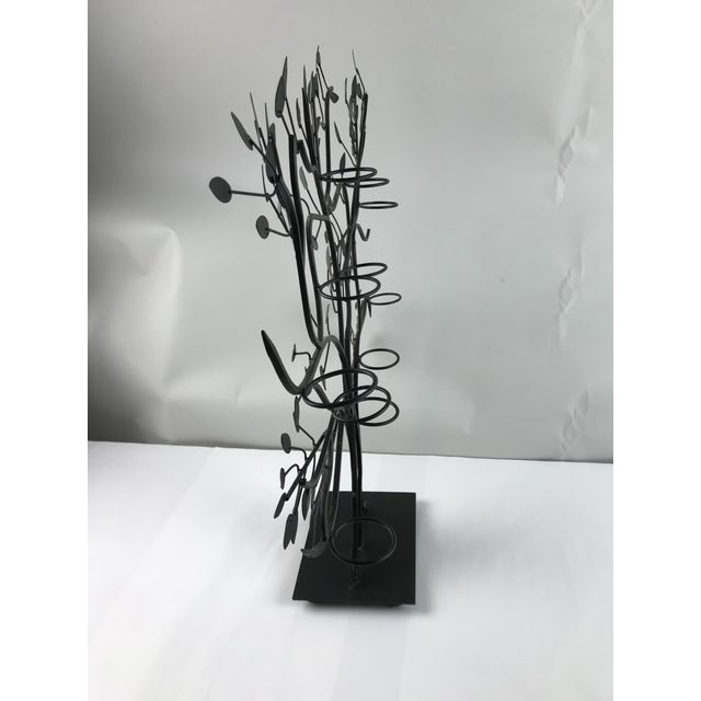 Modern Modern Tole Painted Tree of Life Votive Candle Holder For Sale - Image 3 of 13