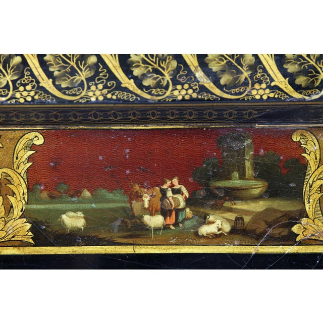 Regency Papier Mâché Tray Top Coffee Table For Sale - Image 9 of 13