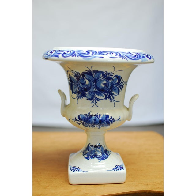 Blue & White Portuguese Porcelain Urns or Vases - A Pair - Image 3 of 5