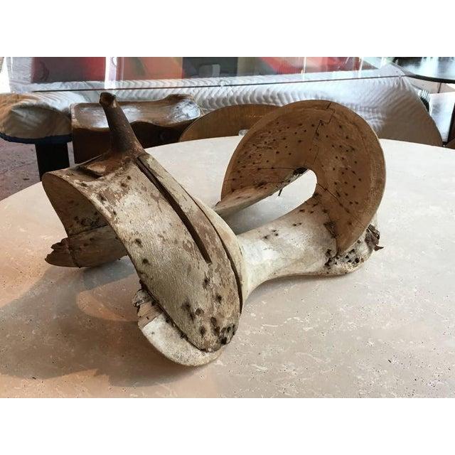 Primitive Wooden Saddle Form For Sale - Image 4 of 5