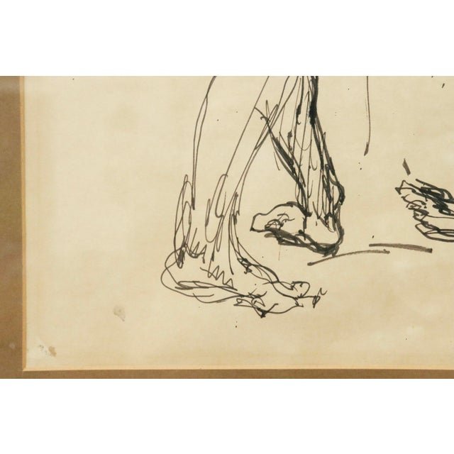 """""""Five Nudes"""" Line Drawing by Louis Field For Sale - Image 4 of 8"""