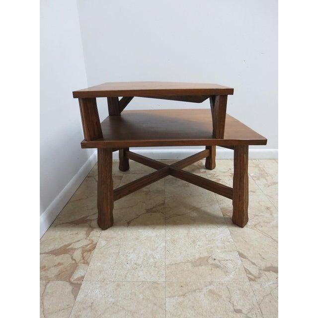 Brandt Ranch Oak End Table For Sale - Image 9 of 11